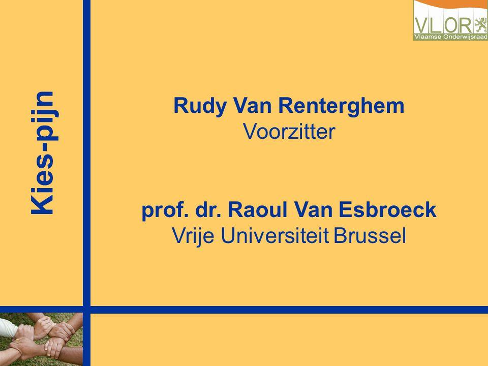 Rudy Van Renterghem Voorzitter prof. dr. Raoul Van Esbroeck Vrije Universiteit Brussel Kies-pijn