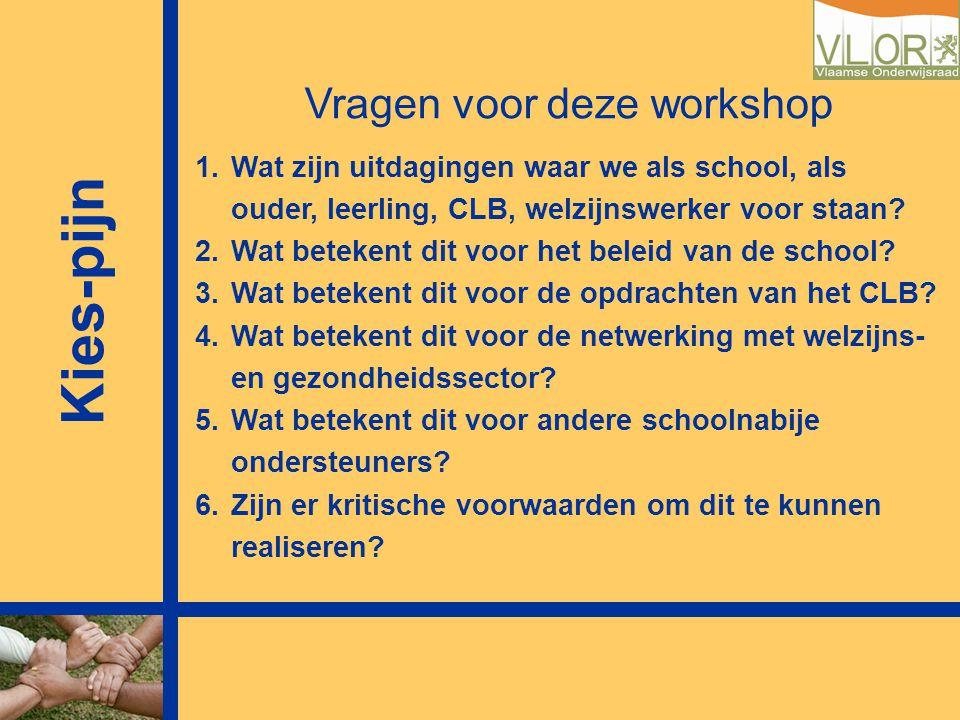 3 Kies-pijn beter voorkomen dan genezen Raoul Van Esbroeck Vrije Universiteit Brussel VLOR Conferentie Leerlingenbegeleiding23 maart 2009