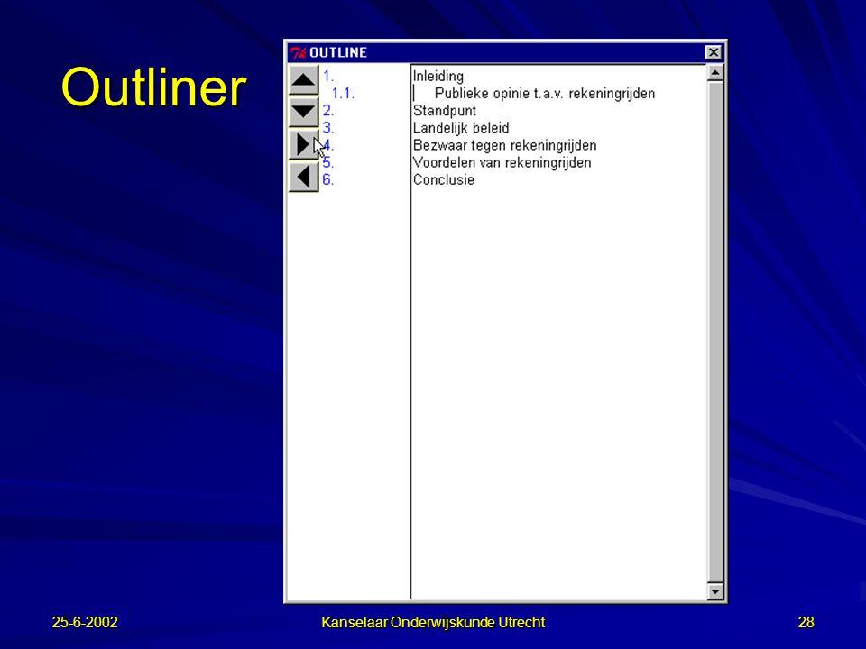 25-6-2002 Kanselaar Onderwijskunde Utrecht 27 Diagram