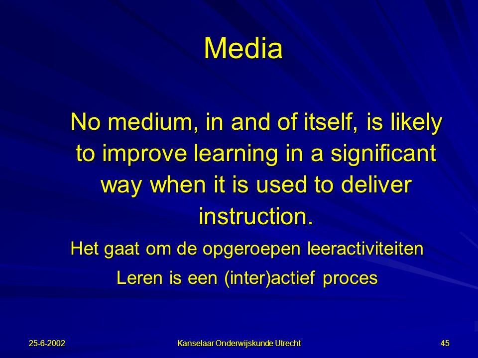 3-10-00 Kanselaar Onderwijskunde Utrecht 44 Focus op samenwerken In volgende filmpje concentreren op de witgeklede studenten en tellen hoe vaak zij de