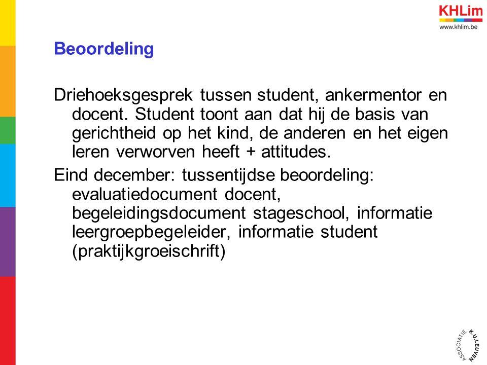 Beoordeling Driehoeksgesprek tussen student, ankermentor en docent.