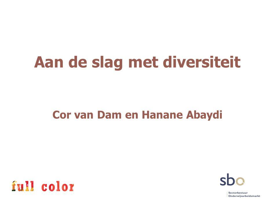 Aan de slag met diversiteit Cor van Dam en Hanane Abaydi