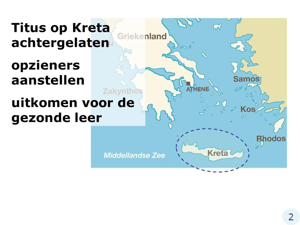 Titus op Kreta achtergelaten opzieners aanstellen uitkomen voor de gezonde leer 2