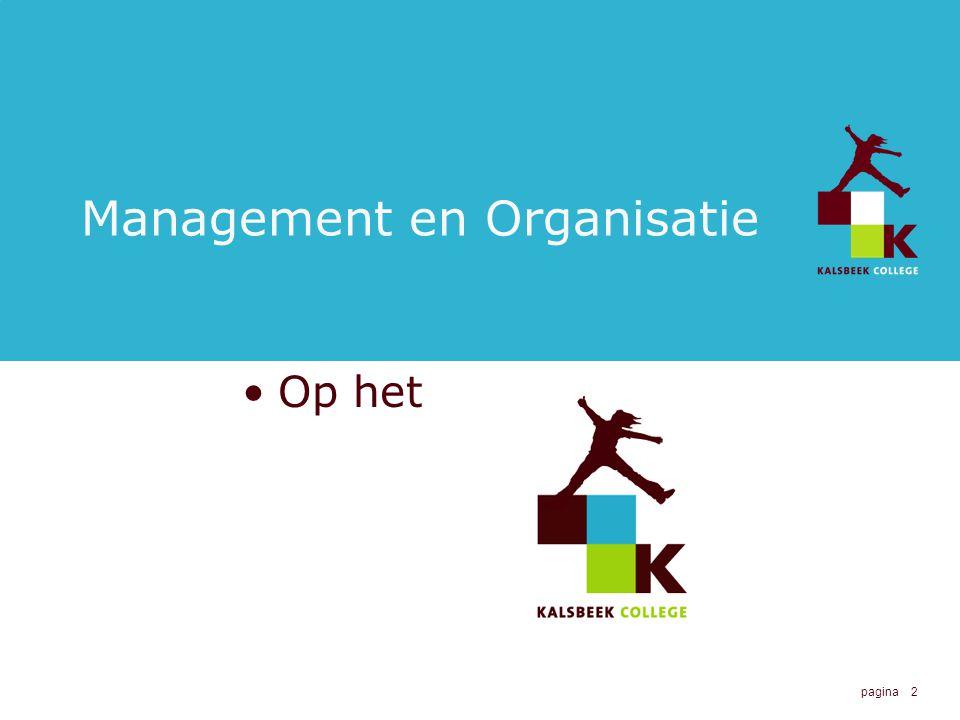 2 Management en Organisatie Op het