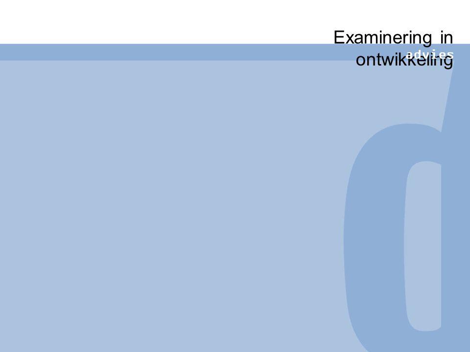 Koers Functies Selectieve-adaptieve rol examens: minder nadruk op selectie in vmbo en bij mbo niveau 1 en 2 dan bij hogere onderwijsvormen Examens en vernieuwing van het onderwijs hand in hand