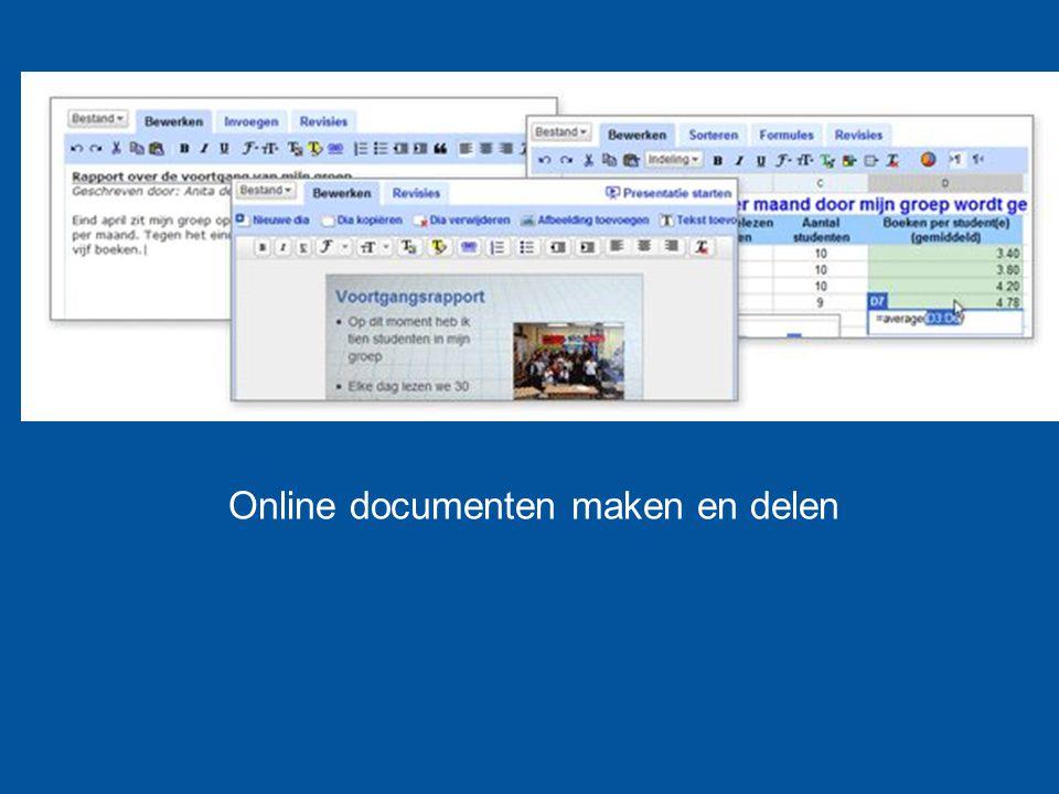 Online documenten maken en delen