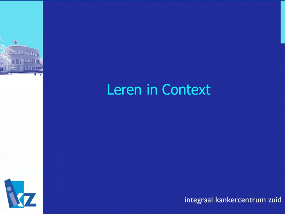 Leren in Context