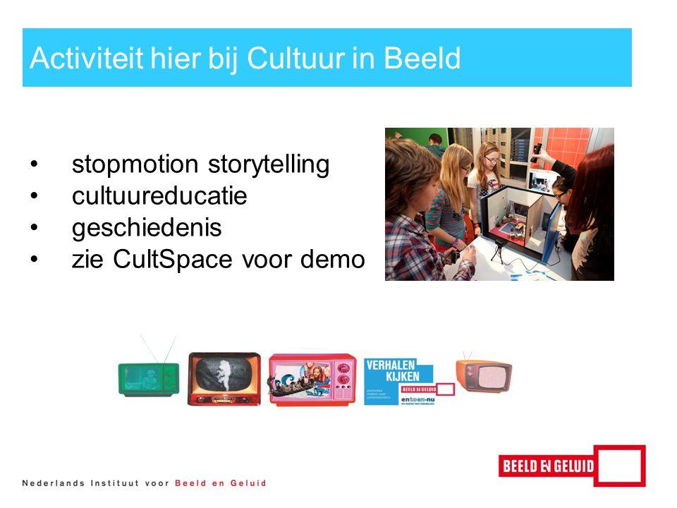 Activiteit hier bij Cultuur in Beeld stopmotion storytelling cultuureducatie geschiedenis zie CultSpace voor demo