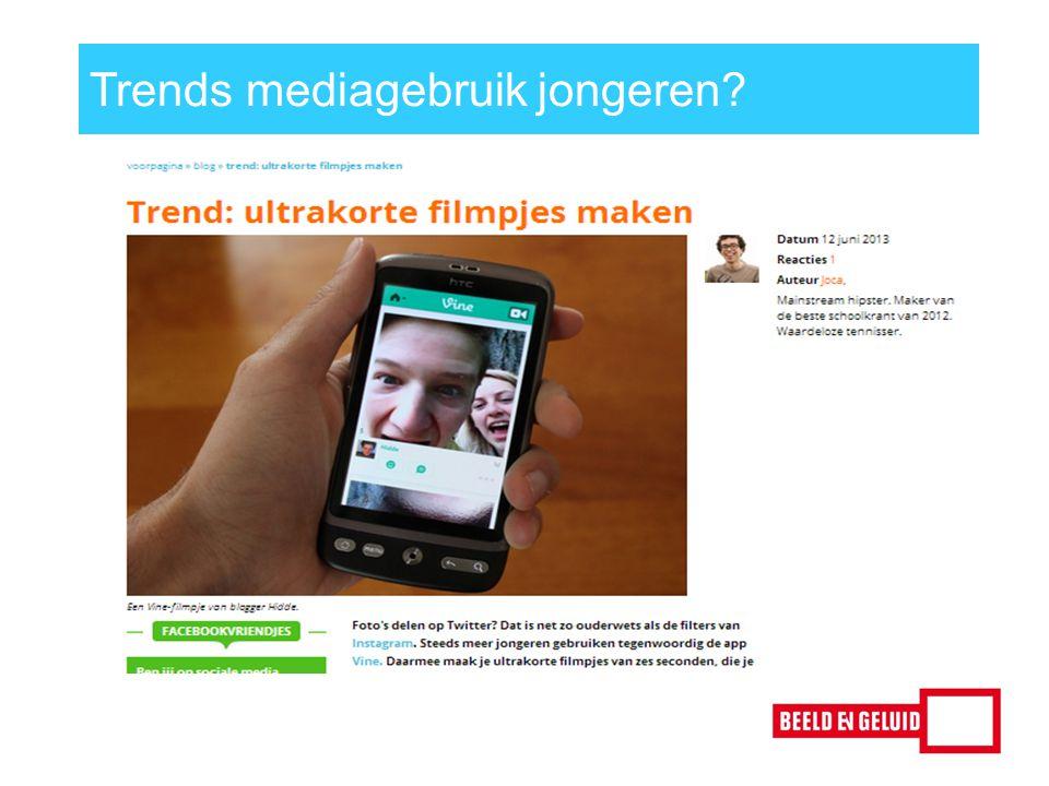 Trends mediagebruik jongeren