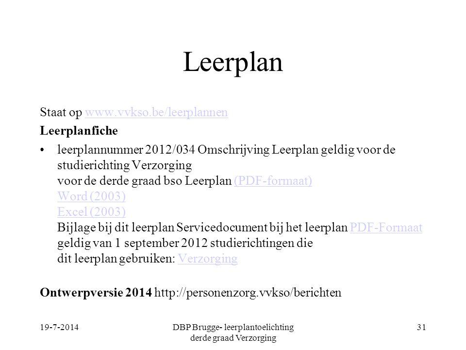 Leerplan Staat op www.vvkso.be/leerplannenwww.vvkso.be/leerplannen Leerplanfiche leerplannummer 2012/034 Omschrijving Leerplan geldig voor de studieri