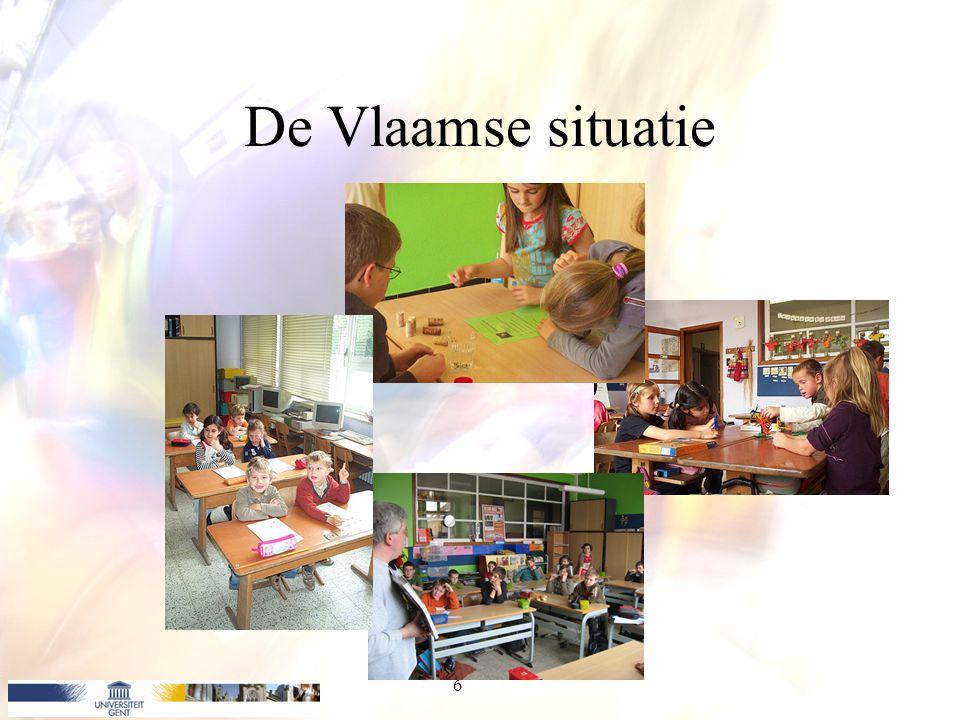 Schoolautonomie Macroniveau: –Ministerie van de Vlaamse Gemeenschap –Bepaalt Eindtermen van onderwijs –Speciale onderwerpen: bijv.