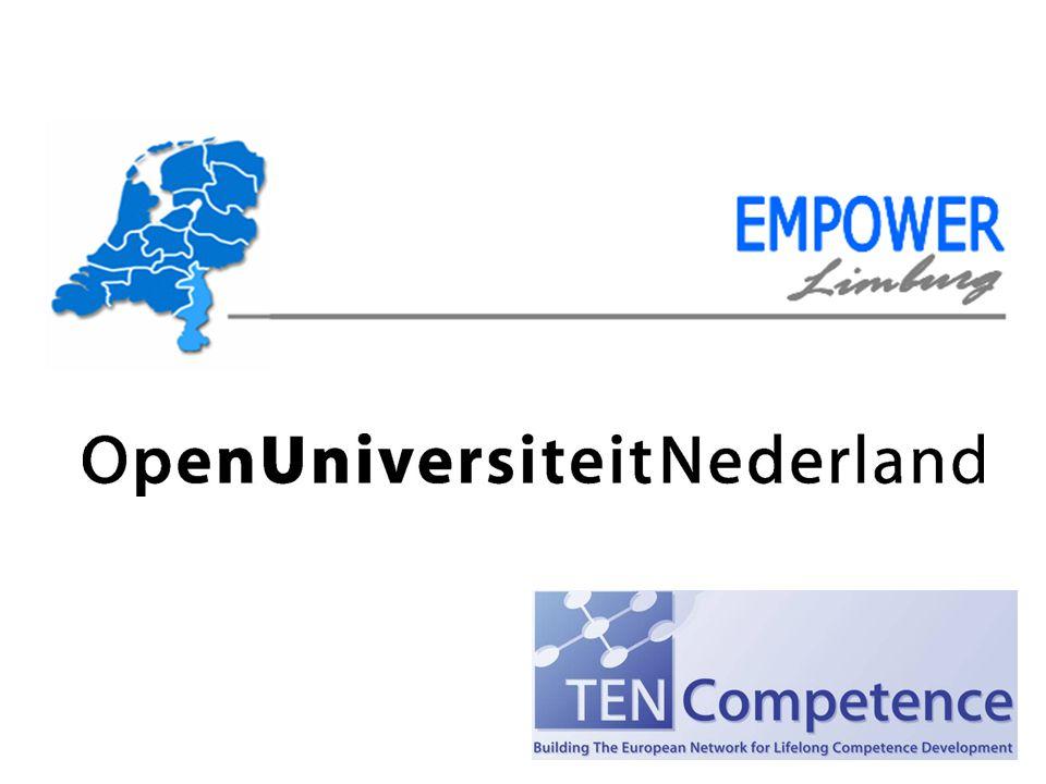 Theo Bovens voorzitter CvB - Open Universiteit Nederland & Steven Verjans docent/projectleider - Open Universiteit Nederland & Thijs Habets projectleider - Empower Limburg Presentatie en discussie