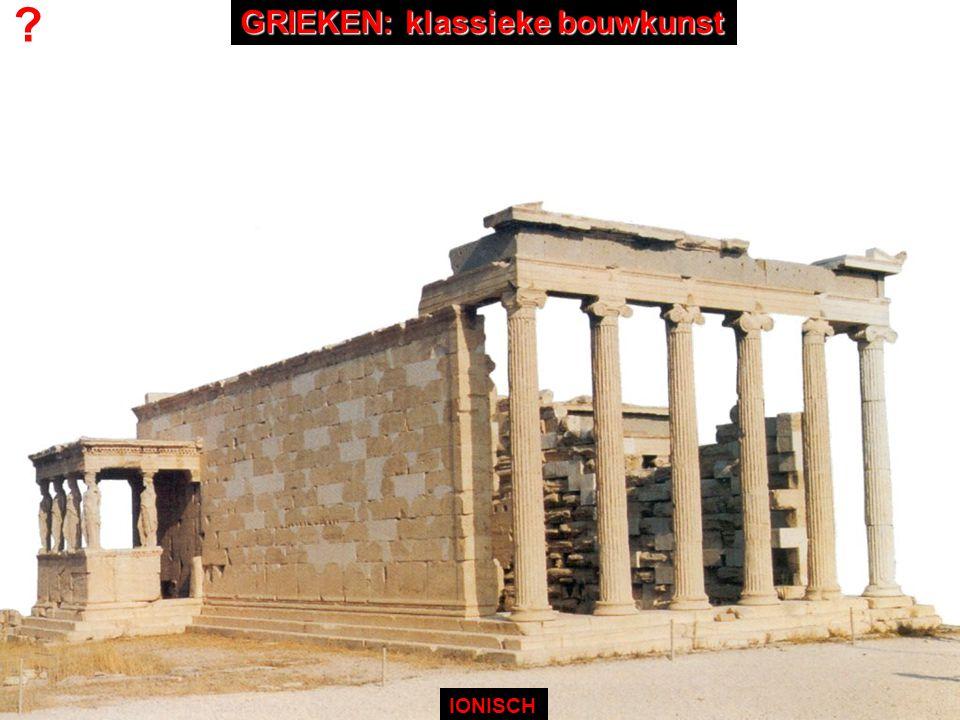 ? IONISCH GRIEKEN: klassieke bouwkunst