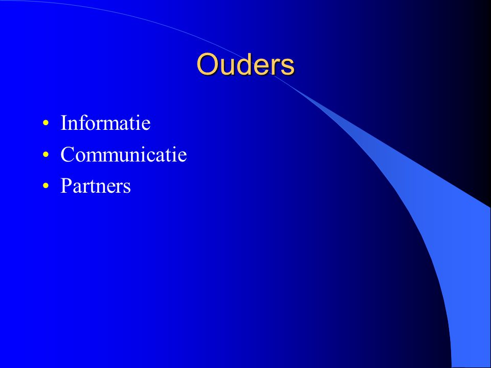 Ouders Informatie Communicatie Partners