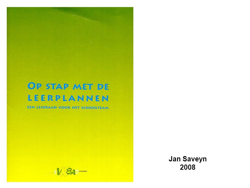 Leerplan - krachtlijnen - leerdoelen - aanbevelingen voor aanpak © Jan Saveyn - VVKBaO