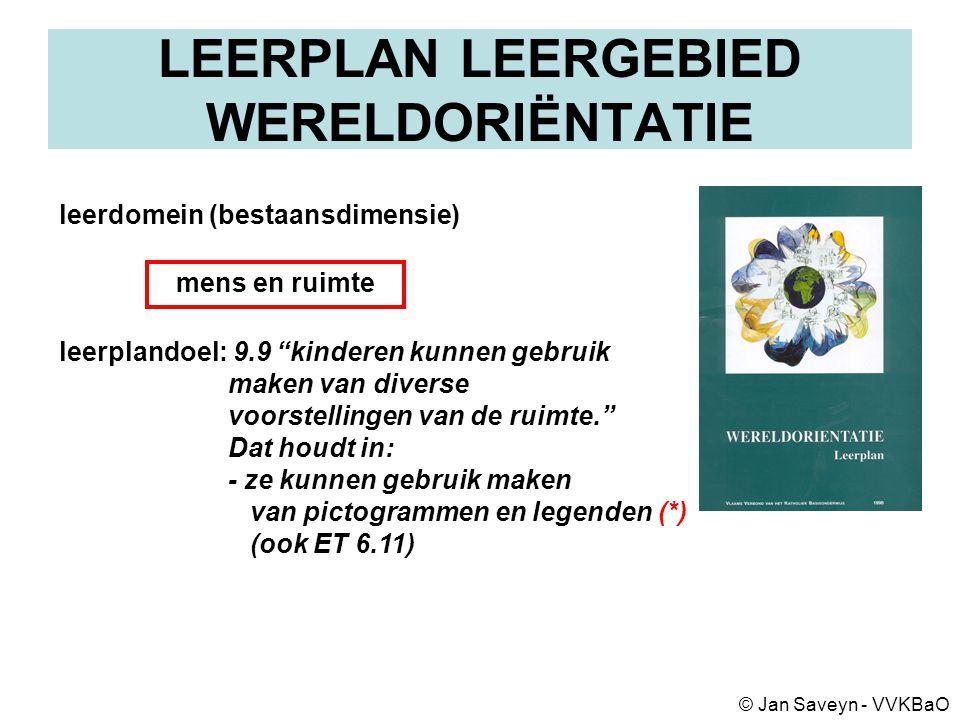 OWP KLEUTERONDERWIJS ONTWIKKELINGS- LEERGEBIEDEN DOMEINEN (met leerdomeinen) ontwikkelings- aspecten leerplandoelen (en OD/ET) PLANNING VAN ACTIVITEITEN LEERPLANNEN BASISONDERWIJS © Jan Saveyn - VVKBaO