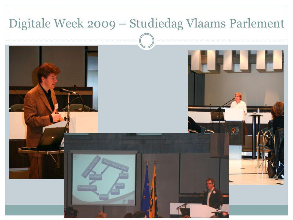 Digitale Week 2009 – Studiedag Vlaams Parlement