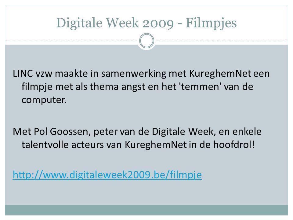 Digitale Week 2009 - Filmpjes LINC vzw maakte in samenwerking met KureghemNet een filmpje met als thema angst en het 'temmen' van de computer. Met Pol