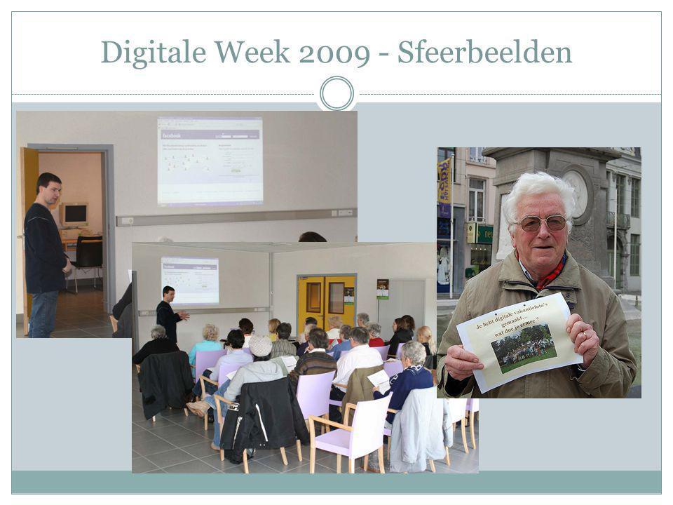 Digitale Week 2010 Interactieve website Nieuwigheden voor 2010: Zoekfunctie Activiteitenkaart Login voor aanpassingen Forum: vragen en rubriek aan de slag (wedstrijd)
