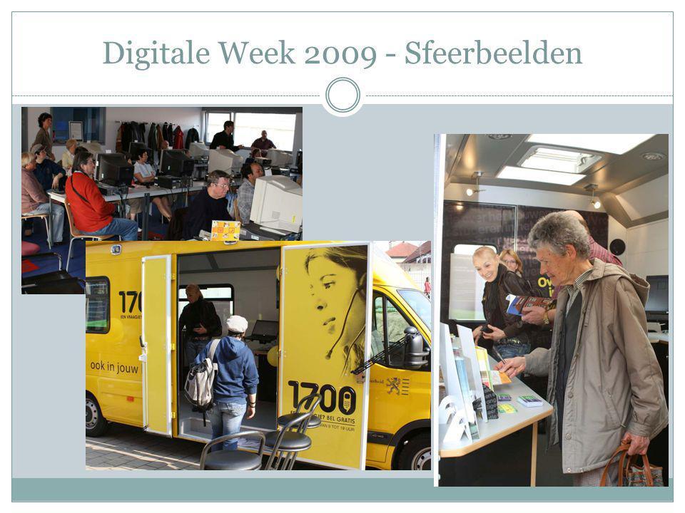 Digitale Week 2010 Regionale verspreiding Sterke impuls vanuit de steden Vbn Gent en Roeselare Naar volgende editie toe zal deze formule gepromoot worden via 'good practices'-dag voor steden & gemeenten Formaliseren relatie met VSNG via samenwerkingsovereenkomst