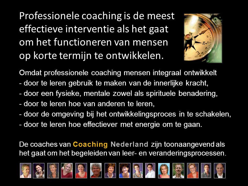 Professionele coaching is de meest effectieve interventie als het gaat om het functioneren van mensen op korte termijn te ontwikkelen. Omdat professio
