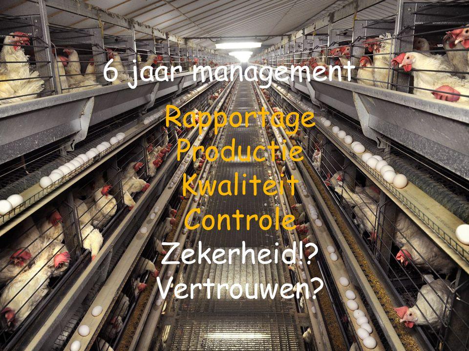 Rapportage Productie Kwaliteit Controle Zekerheid!? Vertrouwen? 6 jaar management