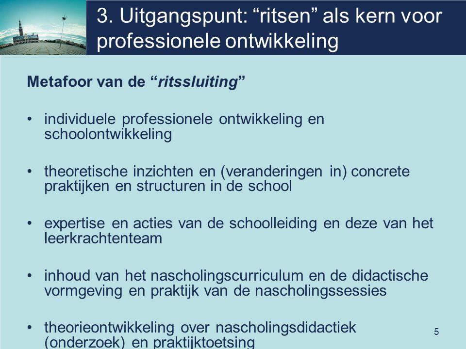 """5 3. Uitgangspunt: """"ritsen"""" als kern voor professionele ontwikkeling Metafoor van de """"ritssluiting"""" individuele professionele ontwikkeling en schoolon"""