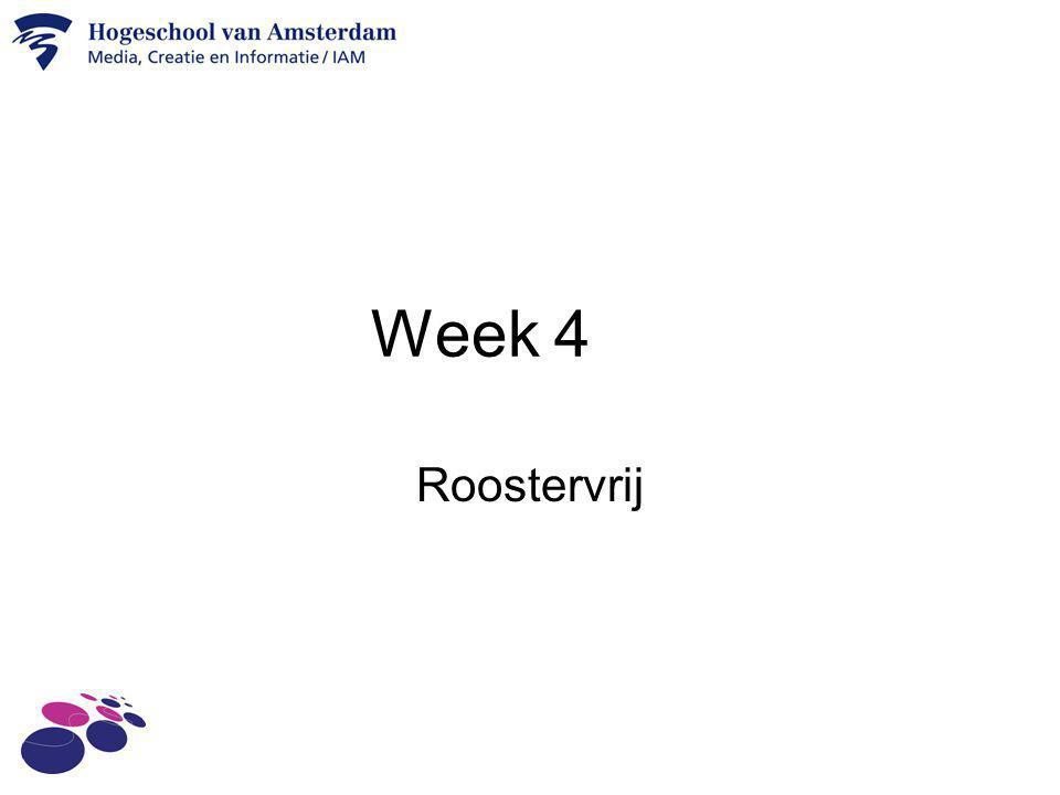 Week 4 Roostervrij