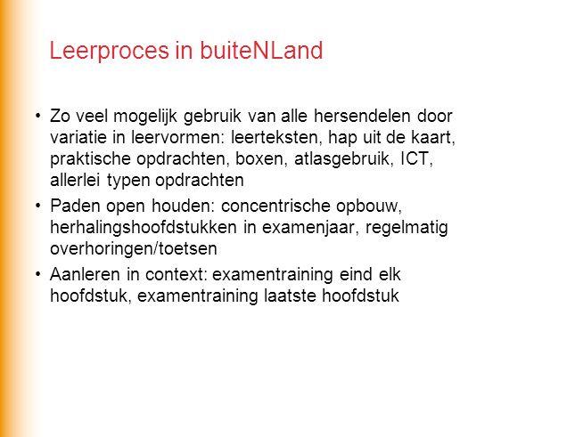 b.lezen, analyseren (indelen) en interpreteren van kaarten Aanleren atlasgebruik A.