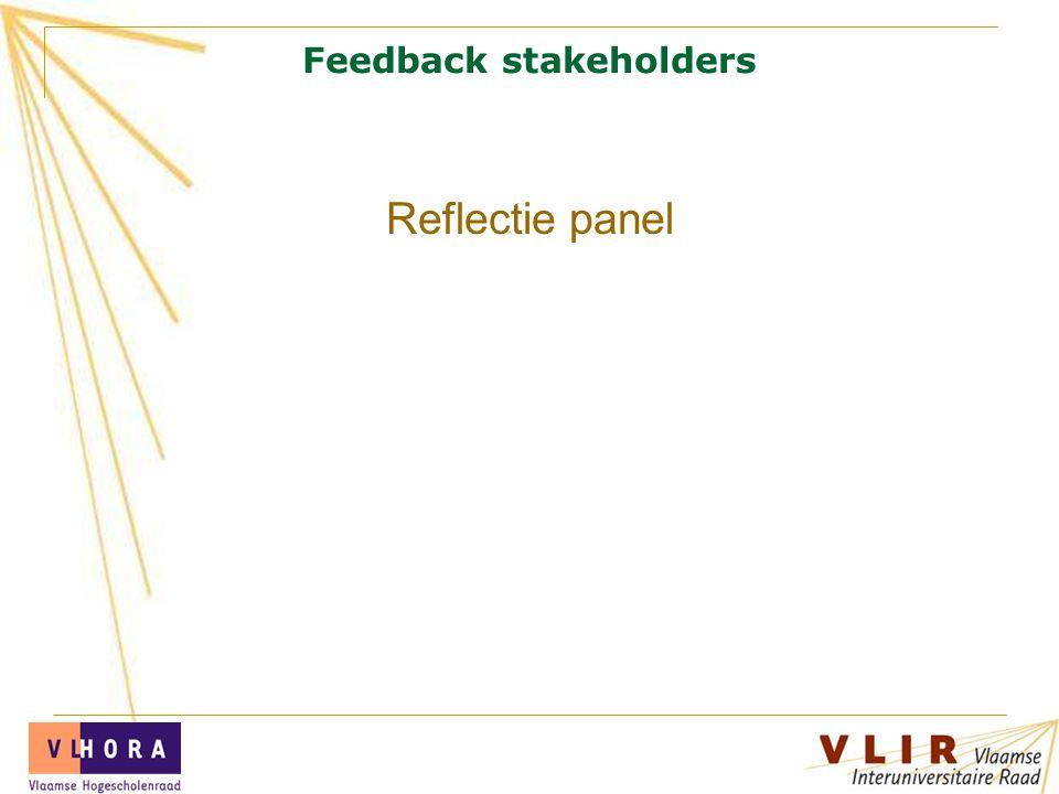 Feedback stakeholders Reflectie panel