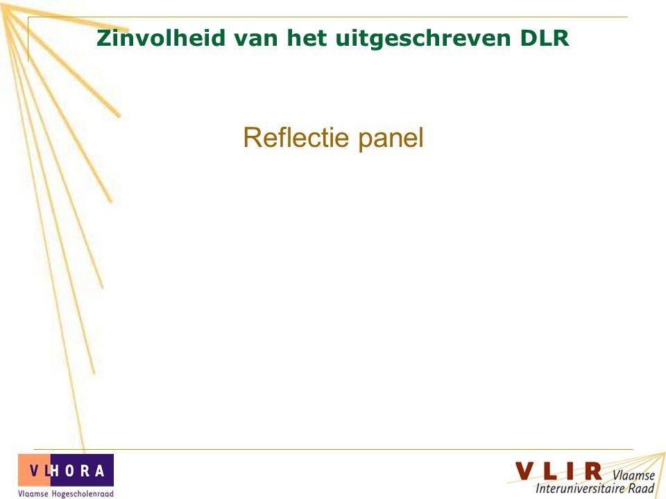 Zinvolheid van het uitgeschreven DLR Reflectie panel