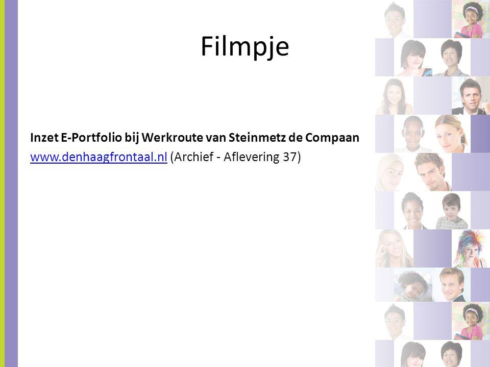 Filmpje Inzet E-Portfolio bij Werkroute van Steinmetz de Compaan www.denhaagfrontaal.nlwww.denhaagfrontaal.nl (Archief - Aflevering 37)