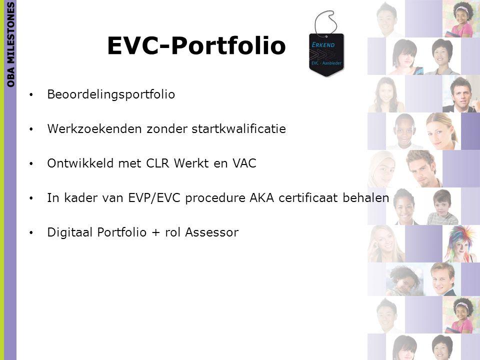 EVC-Portfolio Beoordelingsportfolio Werkzoekenden zonder startkwalificatie Ontwikkeld met CLR Werkt en VAC In kader van EVP/EVC procedure AKA certific