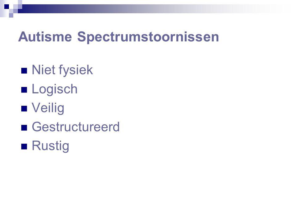 Niet fysiek Logisch Veilig Gestructureerd Rustig Autisme Spectrumstoornissen