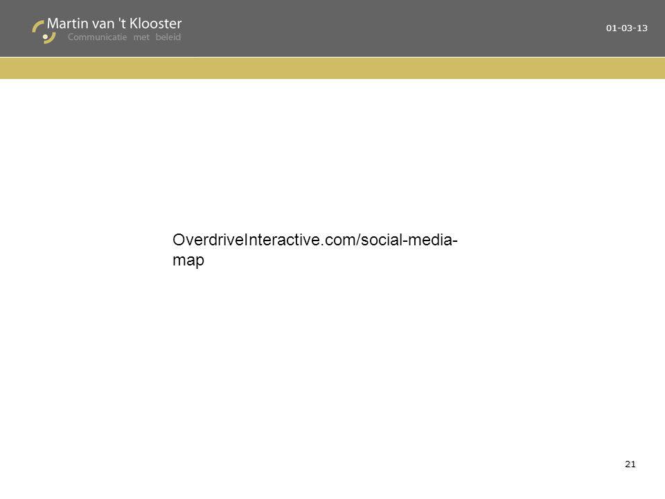 21 OverdriveInteractive.com/social-media- map