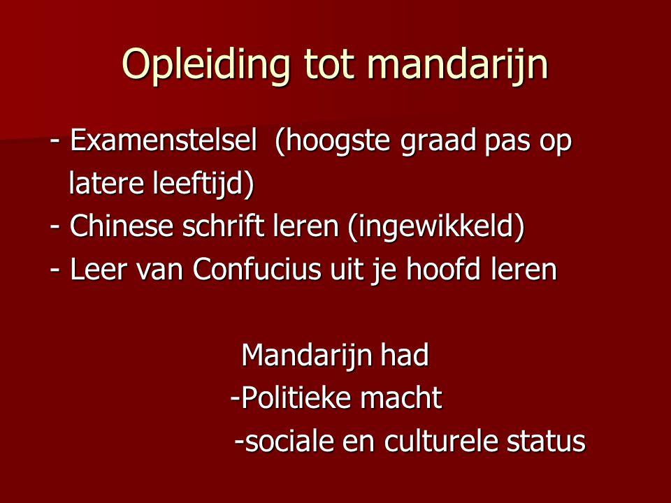 Opleiding tot mandarijn - Examenstelsel (hoogste graad pas op - Examenstelsel (hoogste graad pas op latere leeftijd) latere leeftijd) - Chinese schrif