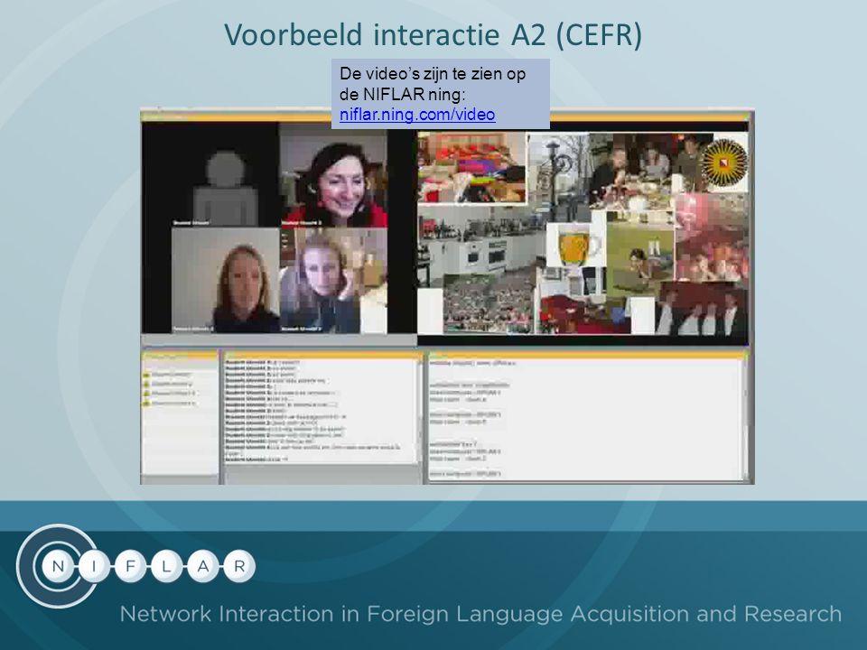 Voorbeeld interactie A2 (CEFR) De video's zijn te zien op de NIFLAR ning: niflar.ning.com/video