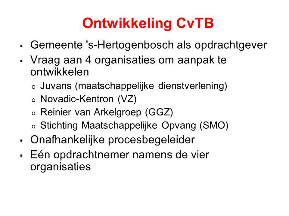 Doelstelling CvTB  Integraal aanbod.