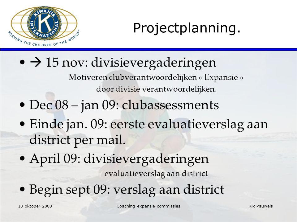 Rik Pauwels Projectplanning.