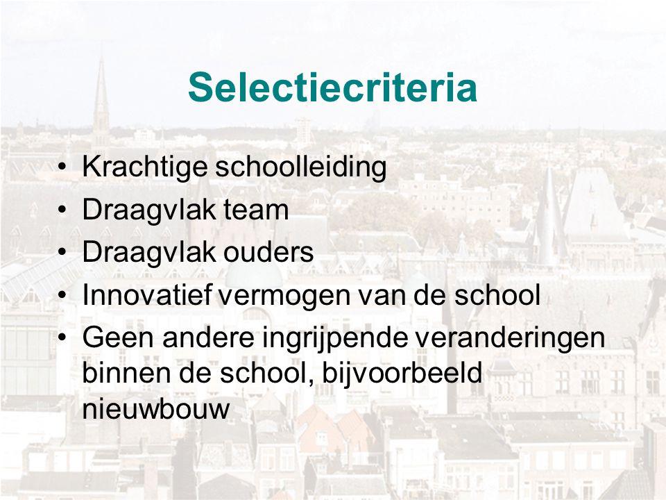 Voorbereiding Scholen worden bij invoering intensief begeleid door externe procesbegeleider Scholen krijgen voorbereidingstijd: inhoudelijke voorbereiding leerkansenprofiel is onderwijs, scholen moeten voldoen aan vijf wettelijke voorwaarden