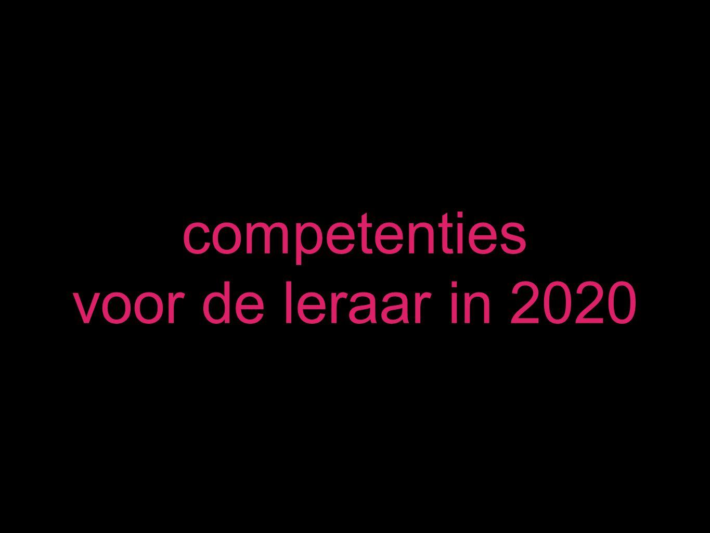 competenties voor de leraar in 2020