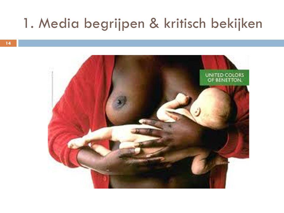 1. Media begrijpen & kritisch bekijken 14