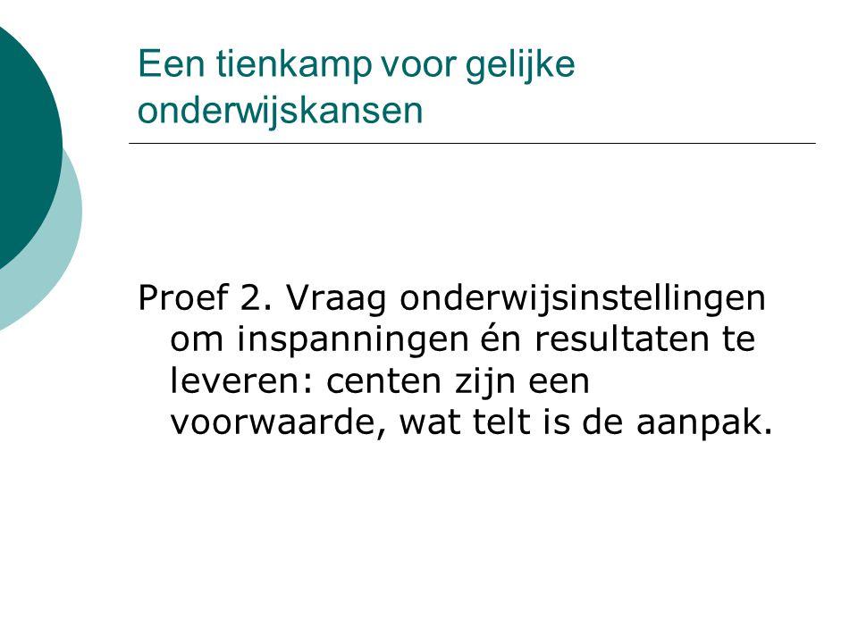 Een tienkamp voor gelijke onderwijskansen Proef 3.