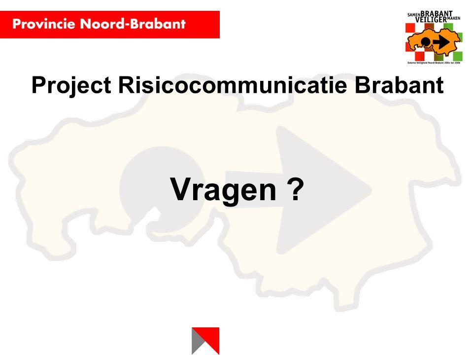 Project Risicocommunicatie Brabant Vragen ?