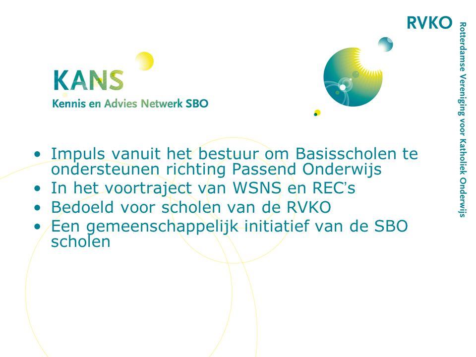 Doel is het verder ontwikkelen van de ondersteunende functie van de SBO's als expertisecentra.