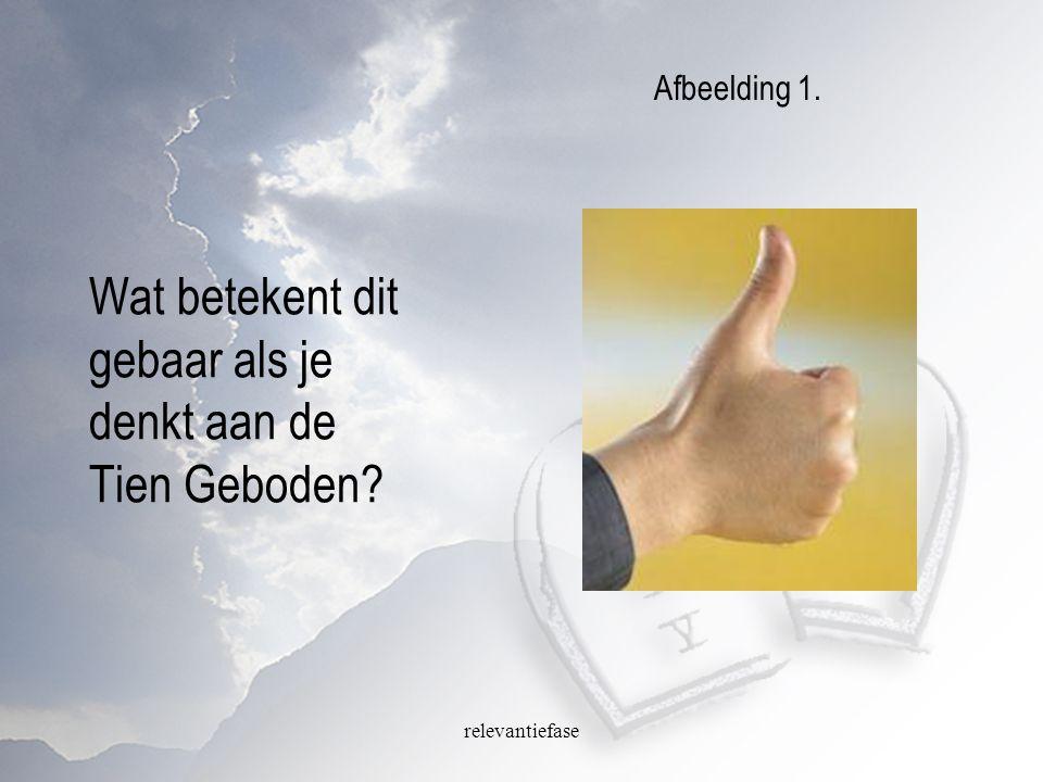 relevantiefase Wat betekent dit gebaar als je denkt aan de Tien Geboden? Afbeelding 1.