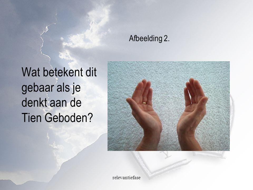 relevantiefase Wat betekent dit gebaar als je denkt aan de Tien Geboden? Afbeelding 2.