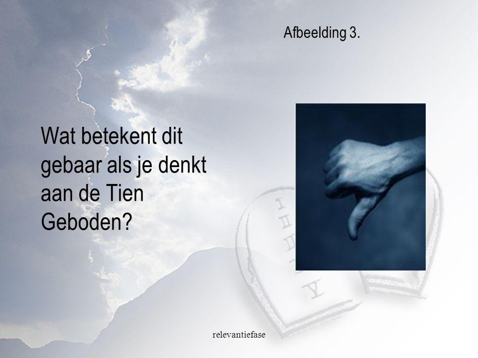 relevantiefase Wat betekent dit gebaar als je denkt aan de Tien Geboden? Afbeelding 3.