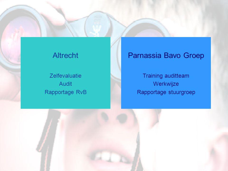 Altrecht Zelfevaluatie Audit Rapportage RvB Parnassia Bavo Groep Training auditteam Werkwijze Rapportage stuurgroep