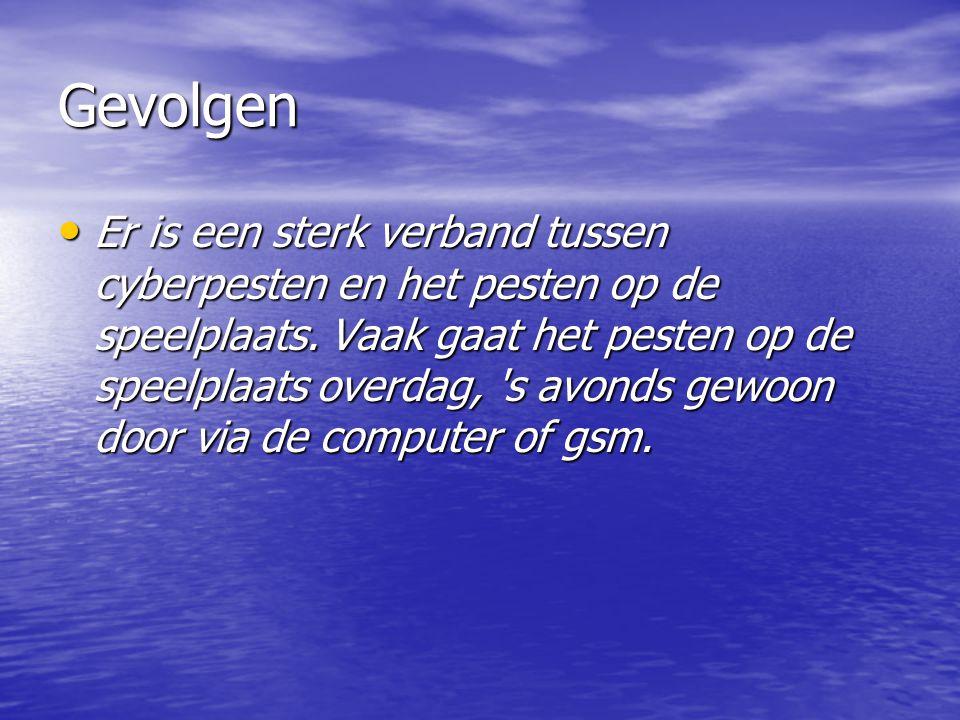 Verschillen Verschillen Het cyberpesten is veel directer, veel persoonlijker en een aanval op de private levenssfeer.
